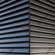 Облицовка фасада жалюзийной фасадной панелью 84R Люксалон