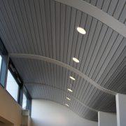 Реечные потолки криволинейный дизайн Албес
