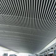 Вертикальный потолок из пластинообразной рейки Албес