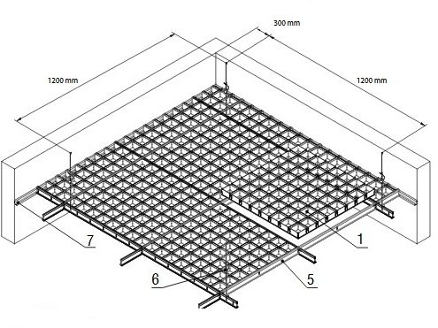 Ячеистый потолок Грильято GL 24 Албес