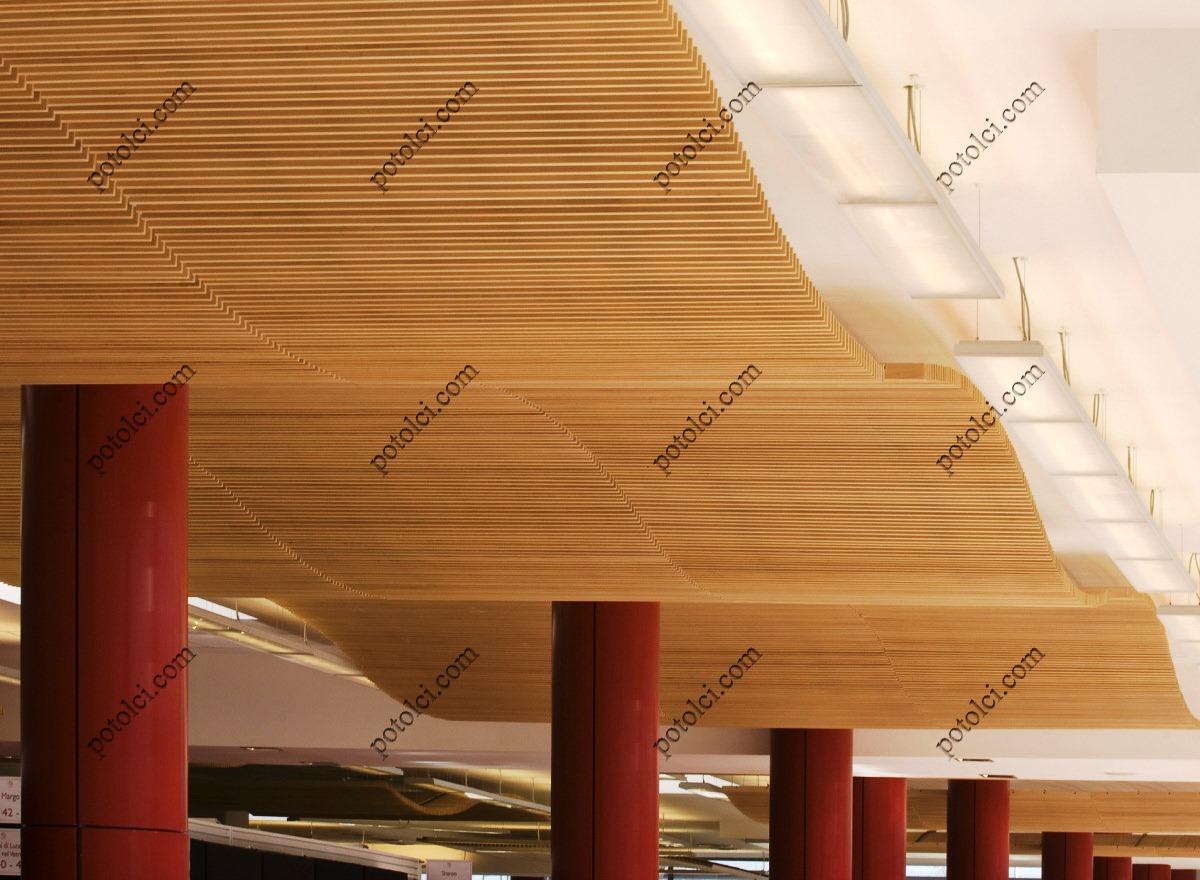 Деревянные реечные потолки GRID Luxalon