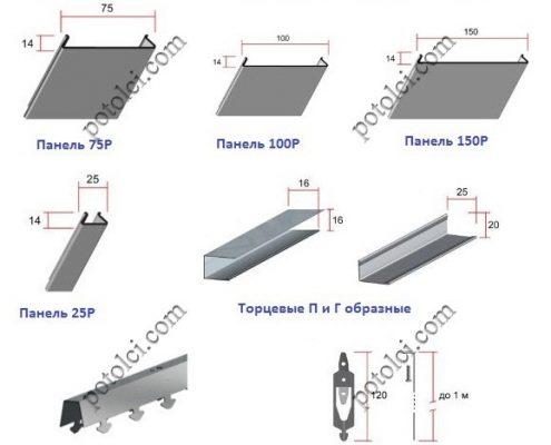 Схема реечного потолка тип Р Ceiling Group