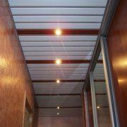 Реечный потолок Немецкий дизайн, белый + золото