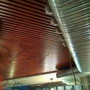 Монтаж кубообразного потолка БАРД в ресторане на Петровке
