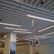 Кубообразный потолок Униформ 30/160, цвет белый, магазин Мираторг, зона касс